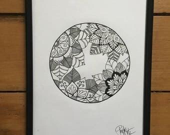 ORIGIANL A4 Mandala circle