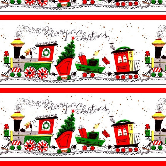 Merry Christmas Train Gift Wrap. Wrapping Paper. Christmas Holiday XMas Trains Snow Santa Retro Trees Kids Baby. Gift Wrap. Presents Gifts