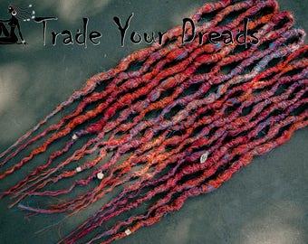 Double Ended Synthetic Dreads, Wavy dreads, Crochet dreadlocks