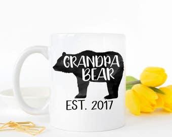 Grandpa Bear, Grandpa Mug, Gifts for Grandpa, Pregnancy Reveal, Pregnancy Announcement to Grandparent