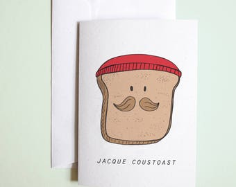 JACQUE COUSTEAU // jacque coustoast greetings card // birthday or just because card //