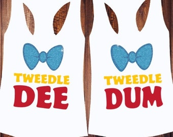 Tweedle Dee and Tweedle Dum Shirt - Alice In Wonderland Shirt - Matching Shirt -