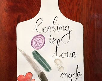 Painted Chopping Board Kitchen Decoration
