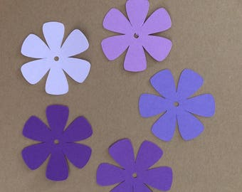 "55 - 1 1/2""  Flower Die Cuts for Paper Crafts  Cardmaking Party Decorations"