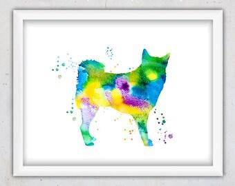 Dog Nursery Art, Shiba Inu Print, Watercolor Wall Print Dog, Nursery Print, Kids Dog Art, Downloadable Dog, Instant Digital Printable Art
