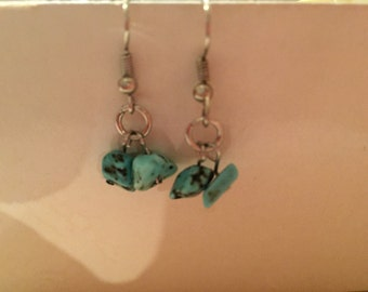 Turquoise gem earrings