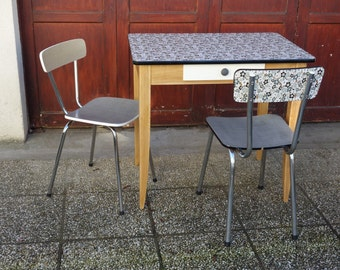 All table and matching Chair retro