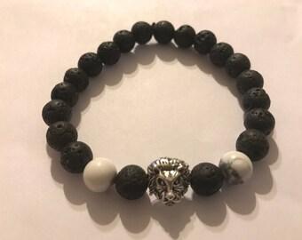 Essential oil diffuser bracelet-lion