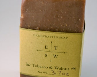 Tobacco and Walnut Exfoliating Soap - Vegan Soap
