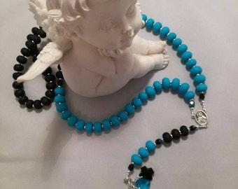 Necklace rosary swarovski