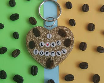 Coffee lovers, key chain, magnet , gift idea .