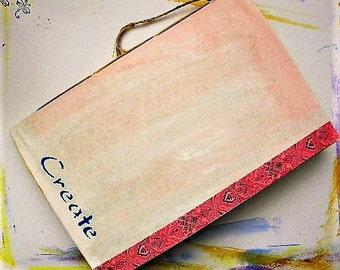 Art journal, handmade journal, watercolor paper, travel journal, mixed media