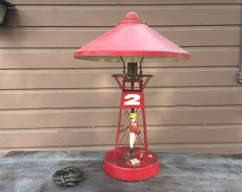 Equestrian Theme Vintage Metal Desktop Lamp