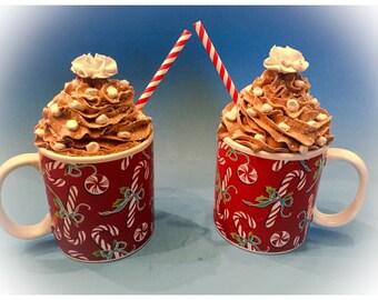 Peppermint Dresms Fake Hot Cocoa Mug Treats
