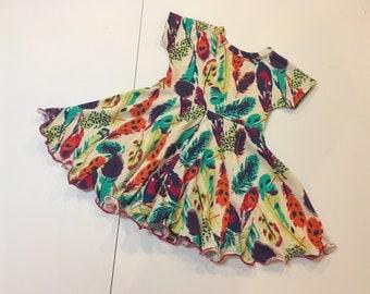 Twirl Dress- Feathers
