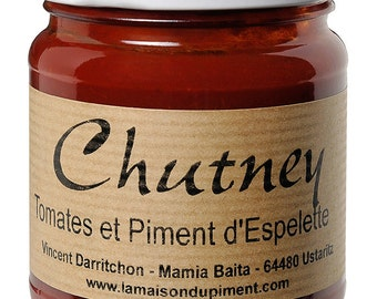 Peppers and tomato chutney Espelette