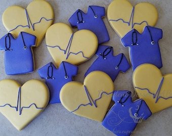 One (1) Dozen  Medical, Nurses, Doctors, Paramedic, EMT cookies