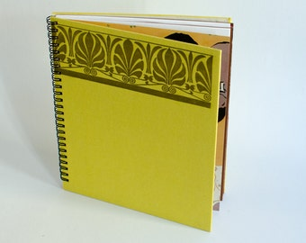 Notebook yellow / / spiral binding Upcycling