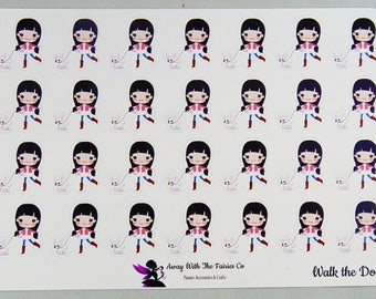 Planner Girl Series planner stickers - Walk the dog - Available in 4 variations