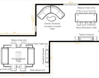 Virtual Floor Plan to Scale and Rendering