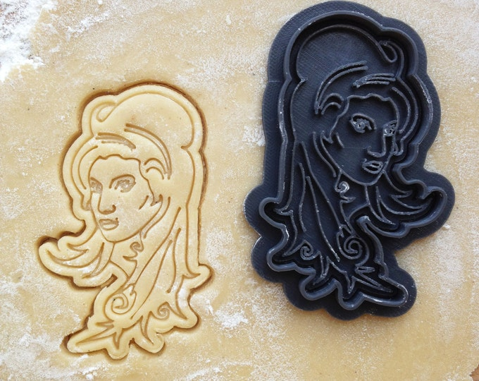 Amy Winehouse face cookie cutter. Amy Winehouse cookie stamp