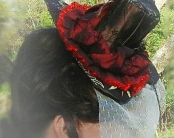 Steampunk Costume Heart Hat/ Victorian Mini-hat, Accessory for Costume