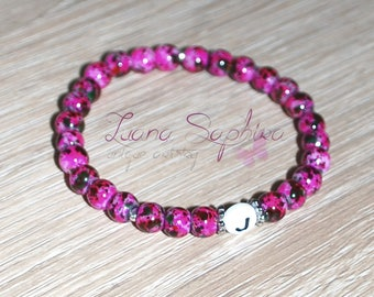 Pearl bracelet with letters