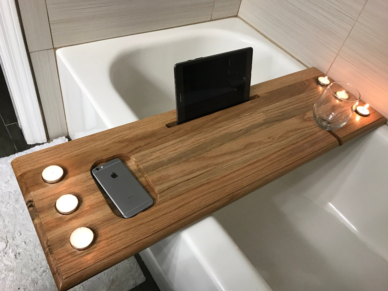 Bath tub caddy bath tray wood bathtub caddy wood bathtub Bathroom design perth uk