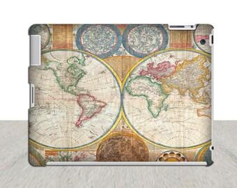 vintage world globe map iPad Case iPad 3 iPad 4 iPad Mini ipad hard case ipad mini hard case ipad 3 4 hard cover vintage ipad map ipad case