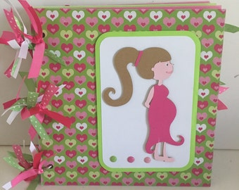 Pregnancy 8 x 8 Chipboard Premade Album