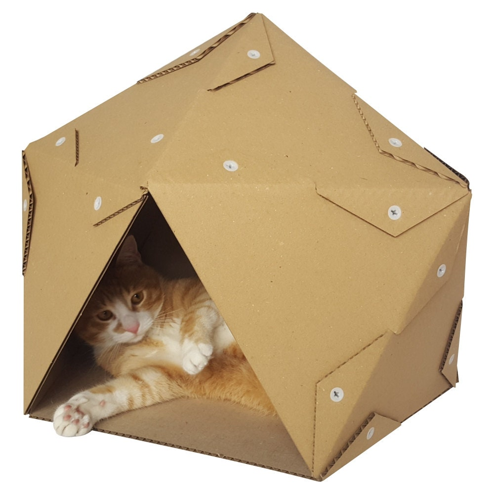 Corrugated Cardboard Furniture Pentagon Cardboard Cat House Cat Furniture Cat Toy Cat Bed