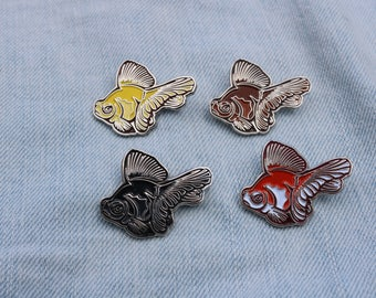 Three Pack of Butterfly Goldfish Enamel Pins (Pick 3)