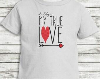 Valentine Girl Toddler Tee Daddy's Girl Love