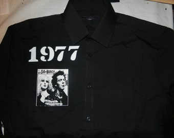 Sid Vicious and Nancy 1977 black punk shirt