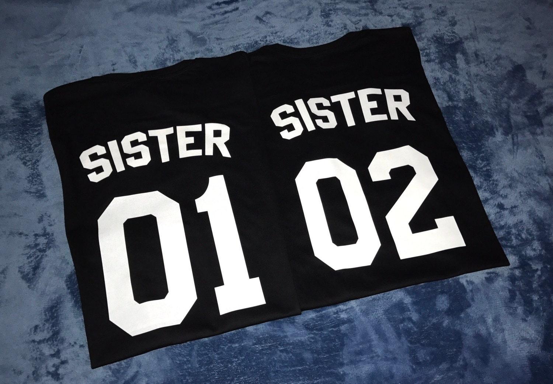 sister t shirts sister 01 shirt big sister shirt little. Black Bedroom Furniture Sets. Home Design Ideas