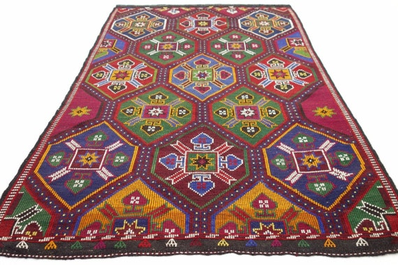 Antalya Nomads Embroidered Kilim 795 X 1102 Area Rug Kelim Carpet