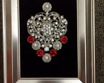 """Framed Jewelry Display 4"""" x 6"""""""