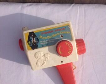 Vintage Fisher Price Music Box Movie Camera