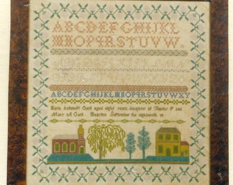 Maria Antionett Carli c1800 Reproduction Sampler by Threads of Gold Counted Cross Stitch Pattern/Chart