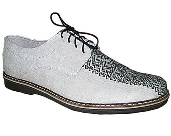 "Hemp shoes for men ""COMFORT DECORATIVE"". Made to Order HANDMADE Shoes. Custom order hemp shoes."