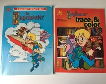 1994 The Pagemaster Golden Color/Activity Book Trace & Color Little Golden Macaulay Culkin colouring books NOT COLORED MINT