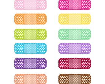 Colorful Band Aid Clip Art | www.pixshark.com - Images ...
