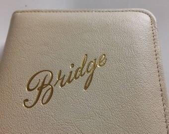 Vintage Bridge Set Leather Case