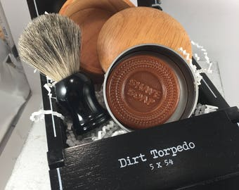 Cigar Box Shave Set - A Perfect Father's Day Gift to give Dad or even a Grad.-Birch Shave Bowl-Shave Brush and Soap-Fragrance of your choice