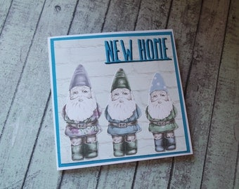 New Home Gnome card / house warming card / gnome card / home sweet home card