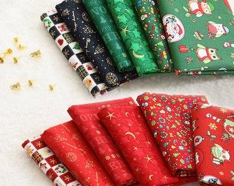 "Christmas Pattern Series 20s Cotton Fabric - 44""x35"" - Digital Printing - 1 Yard"