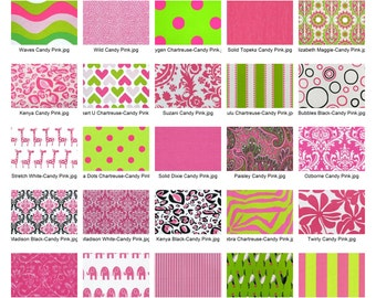 """Premier Prints """"Candy Pink"""" Fabric Remnants/Scrap Packs - Free Shipping"""