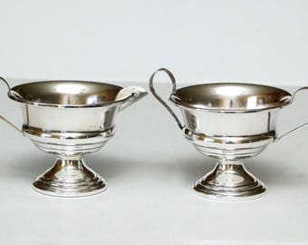 Vintage ArrowSmith Sterling Silver Weighted Sugar and Creamer Bowls