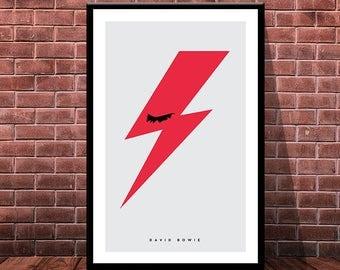 David Bowie Poster, Multiple Sizes, Instant Download, Black Star, Rebel, Digital Prints