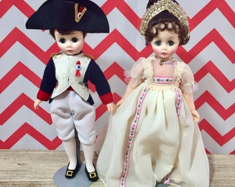 Vintage Napoleon and Josephine Doll Set with Original Boxes, Madame Alexander Doll, Vintage Collectible Doll, Gift for Girl, Historical Doll